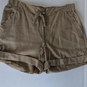 Joe Fresh Khaki Drawstring Shorts Size S